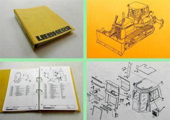 Liebherr PR732B Planierraupe Ersatzteilliste Ersatzteilkatalog Parts List  2002