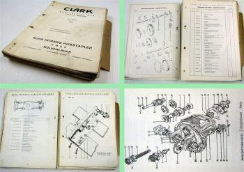 Clark DY2024 ex Gabelstapler Fork Lift Truck Parts List Ersatzteilliste 1963/64