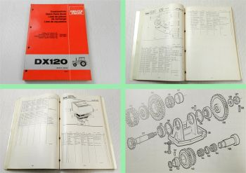 Deutz DX 120 Traktor Schlepper Ersatzteilkatalog 1981 Original Ersatzteilliste
