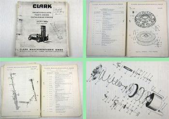 Clark DCFY180s Gabelstapler Fork Lift Truck Spare Parts List Ersatzteilliste 64