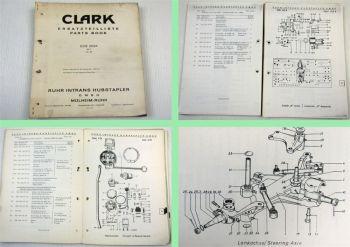 Clark ECE2024 mit 36V Gabelstapler Fork Lift Truck Parts List Ersatzteilliste