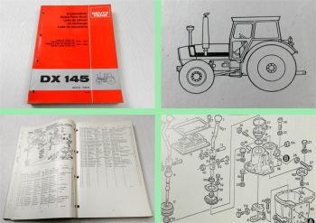 Deutz DX 145 Traktor Schlepper Ersatzteilliste 1981 Original Ersatzteilkatalog