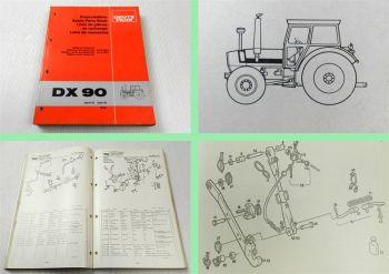 Deutz DX 90 Traktor Schlepper Ersatzteilliste 1981 Original Ersatzteilkatalog