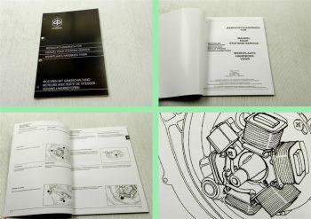 Werkstatthandbuch Piaggio Motor mit Gangschaltung Reparaturanleitung 1998
