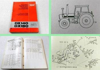 Deutz DX 140 DX 160 Traktor Ersatzteilliste 05/1981 Original Ersatzteilkatalog