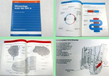 SSP 131 Audi 100 C4 Klimaanlage 1991 Selbststudienprogramm Schaltplan Funktion