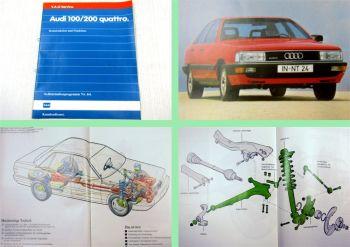 SSP 64 Audi 100 200 Typ 44 Quattro 1984 Konstruktion Selbststudienprogramm