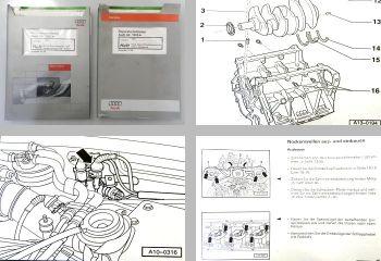 Werkstatthandbuch Audi A4 2,5l TDI Motor + Vorglühanl AFB AKN Reparaturleitfaden