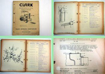 Clark UT100 Gabelstapler Ersatzteilkatalog Parts book