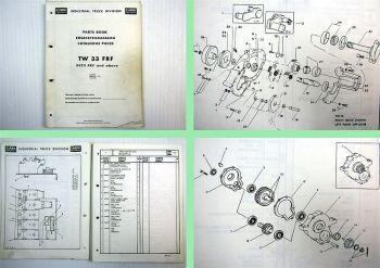 Clark TW 33 FRF Spare Parts List Ersatzteilliste Catalogue Pieces