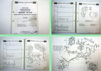 Clark TW33 Series TW 334 Spare Parts List Ersatzteilliste Catalogue Pieces