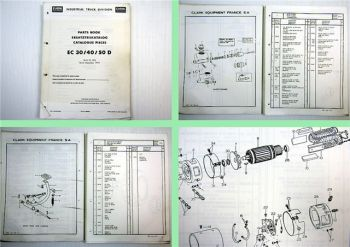 Clark EC 30 40 50 D Ersatzteilliste Parts List Catalogue Pieces 1973