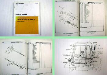 Daewoo D20S-3 D25S-3 D30S-3 Lift Trucks Parts Book Ersatzteilkatalog 2001