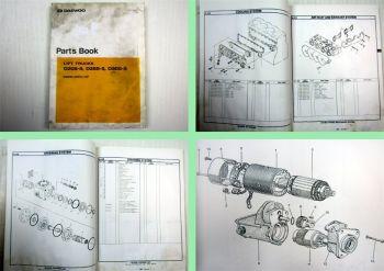 Daewoo D20S-3 D25S-3 D30S-3 Lift Trucks Parts Book Ersatzteilkatalog 1998