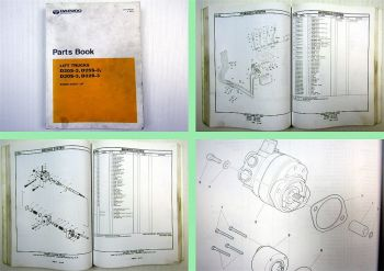Daewoo D20S-3 D25S-3 D30S-3 D32S-3 Lift Trucks Parts Catalog 2003