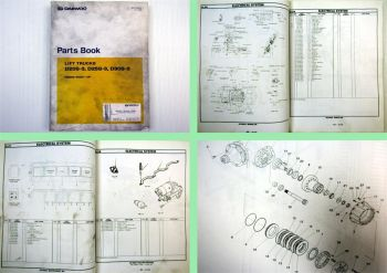 Daewoo D20S-3 D25S-3 D30S-3 Lift Trucks Parts Book Parts List 12/1999