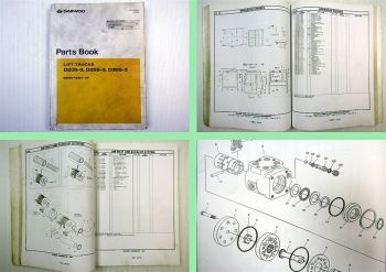 Daewoo D20S-3 D25S-3 D30S-3 Lift Trucks Parts Book Parts List 06/2000