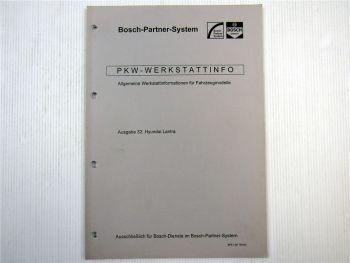 Hyundai Lantra Bosch Dienst Elektrische Anlage Einstellwerte 1996