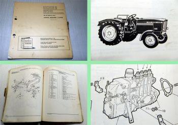 John Deere 500 Dieselschlepper Ersatzteilliste Parts Catalog 1964