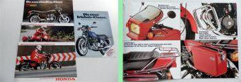 Honda CB 250 Twin CB 250 RS CB 650  CB 900 F Prospekte Technische Daten