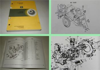 John Deere 824 832 840 Sprayers parts catalog parts list 2001