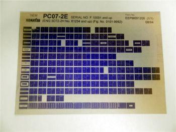 Komatsu PC07-2E Ersatzteilliste Parts Book Microfiche 1994