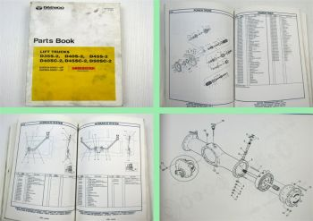Daewoo D35S-2 D40S-2 D45S-2 D40SC-2 D45SC-2 D50SC-2 Lift Trucks Parts List Book