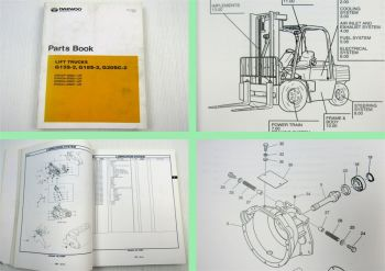 Daewoo G15S-2 G18S-2 G20SC-2 Lift Trucks Parts List Parts Book 03/2002