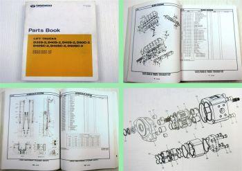 Daewoo D35S-2 D40S-2 D45S-2 D50C-2 D40SC-2 D45SC-2 D50SC-2 Parts List 12/2003