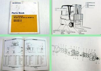 Daewoo B13T-2 B15T-2 B18T-2 Lift Trucks Parts Book Parts List 12/1999
