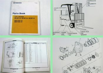 Daewoo B13T-2 B15T-2 B18T-2 Lift Trucks Parts Book Parts List 05/1999