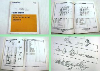 Daewoo B13T B15T B18T Lift Trucks Parts Book Parts List 06/1999