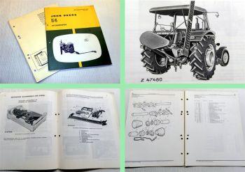 John Deere 820 920 1020 1120 2020 2100 Handbücher für Heckmähwerk 54