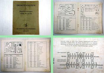 Doppelscheibeneggen CDSE 29 und 33 Ersatzteilliste