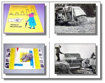 Lanz MD195 Mähdrescher orig. Prospekt 50er J. 8 Seiten