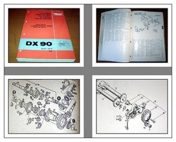 Deutz DX 90 Traktor Schlepper Ersatzteilliste Parts List 4/1978 Original