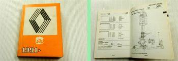 Renault Kontroll- und Einstellwerte Service Handbuch Kundendienst 1991