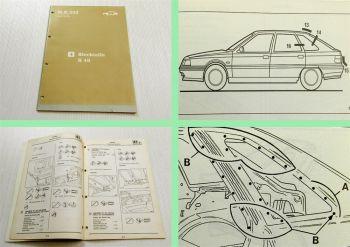 Renault 21 Blechteile Werkstatthandbuch Reparaturanleitung 1990