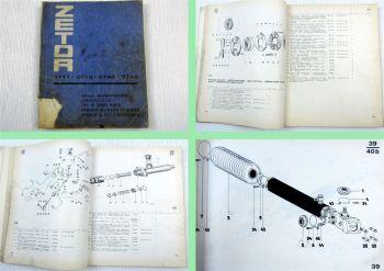 Zetor 5711 5718 5745 5748 Traktor Ersatzteilliste Parts List 1972