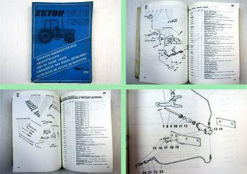 Zetor 9520 9540 Schlepper Ersatzteilliste 1992