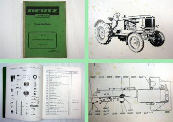 Deutz F4L 514 Traktor 65 PS Universalschlepper Ersatzteilliste 1960