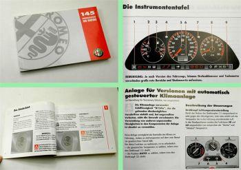 Alfa Romeo 145 Betriebsanleitung Bedienungsanleitung Wartung 08/1997