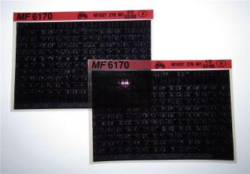 Massey Ferguson MF 6170 Schlepper Ersatzteillisten Parts List Microfiche 1995