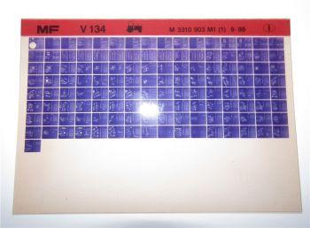 Massey Ferguson MF V134 Schlepper Ersatzteillisten Parts List Microfiche 1986