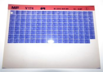 Massey Ferguson MF V174 Schlepper Ersatzteillisten Parts List Microfiche 1987