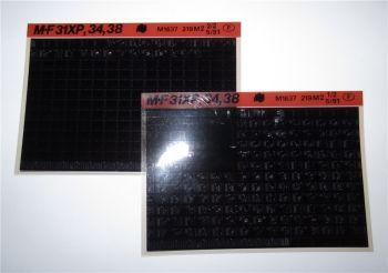 Massey Ferguson MF 31XP, 34, 38 Motor Ersatzteilliste Parts List Microfiche 1991