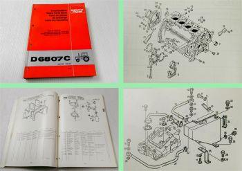 Deutz D 6807C Traktor Schlepper Ersatzteilliste 09/1981 Original