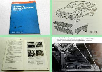 Reparaturleitfaden VW Scirocco ab Mai 1981 Karosserie Instandsetzung