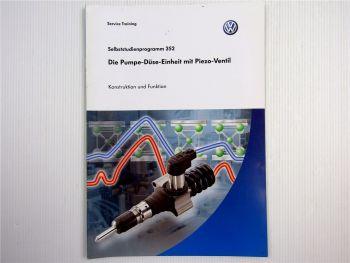 SSP 352 VW Passat Diesel B6 Pumpe Düse Schulung 2005  Konstruktion Funktion