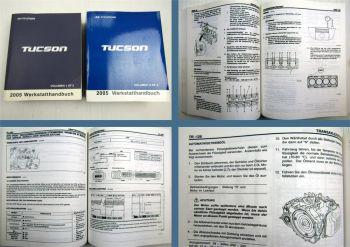Reparaturanleitung Hyundai Tucson JM Werkstatthandbuch 2005
